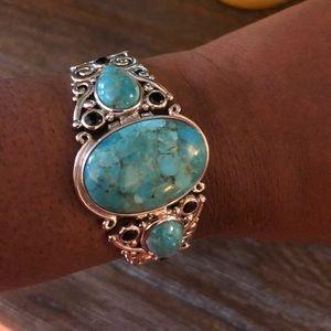 Sterling Silver & Turquoise Muti Gem bracelet